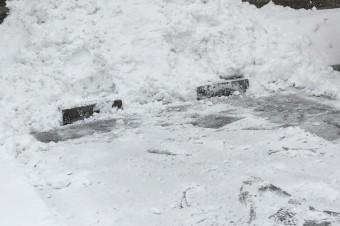 雪かき完了!!